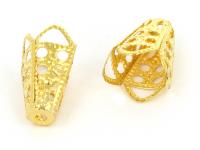 Kaplík kužeľ 10x16mm - zlatá (bal. 50ks)