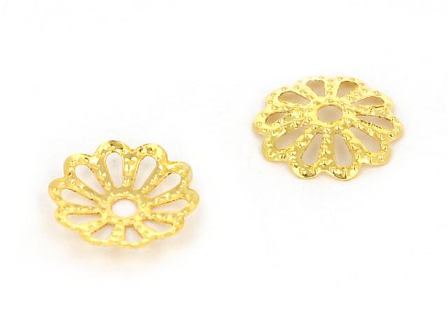 Kaplík kvet č.13 9x1,5mm - zlatá (bal. 10g, cca 100ks)