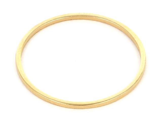 Oceľový ozdobný krúžok 19,5mm - zlatá