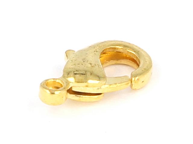Karabínka 10x5x3mm - zlatá