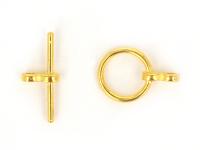Americké zapínanie hladké 12x1,5mm - zlatá
