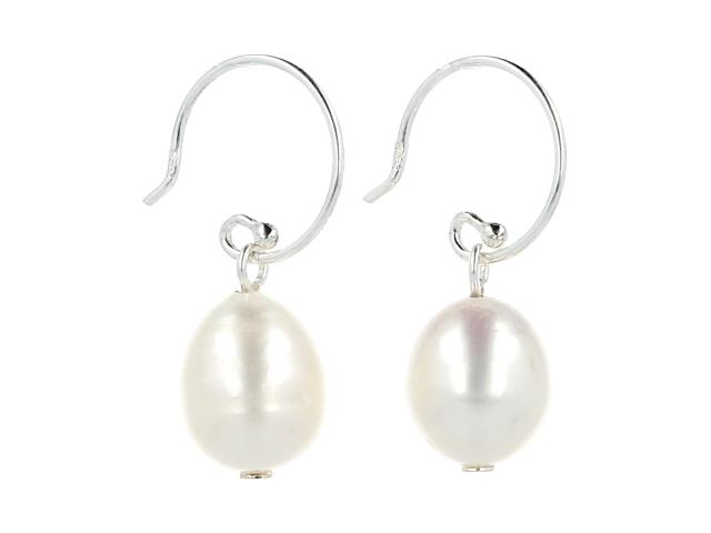 Náušnice biele riečne perly + Ag925
