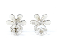 Strieborné kvetinové náušnice (Ag925) a Paua perleť