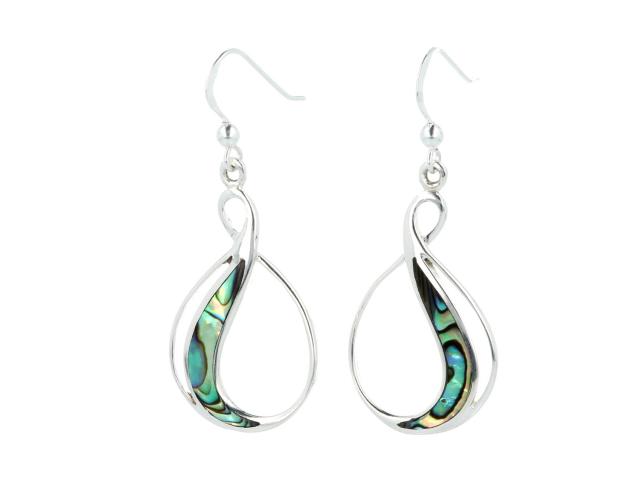 Strieborné náušnice (Ag925) a Paua perleť