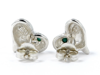 Strieborné srdiečkové náušnice (Ag925) a tyrkys