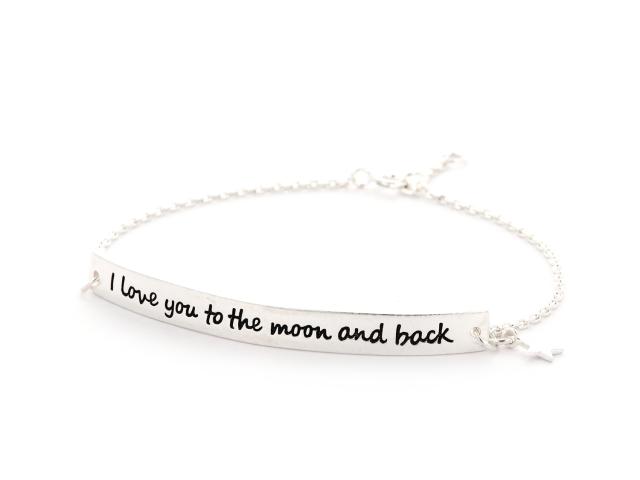 Strieborný náramok I love you to the moon and back (Ag925)