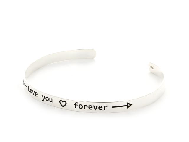 Strieborný náramok Love you forever (Ag925)