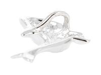 Strieborný prívesok delfín (Ag925) a opál