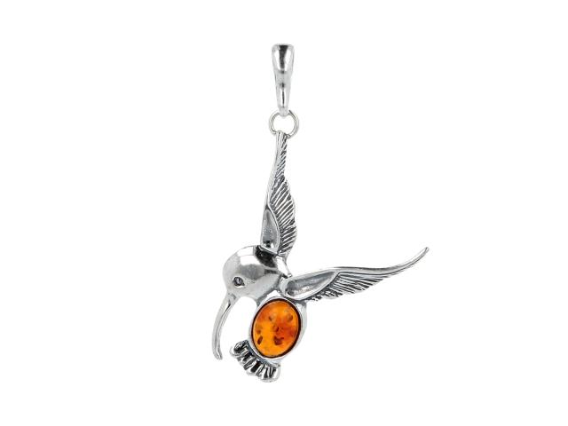 Prívesok jantár - kolibrík