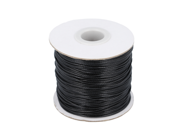 Voskovaná bavlnená šnúrka - čierna 1mm