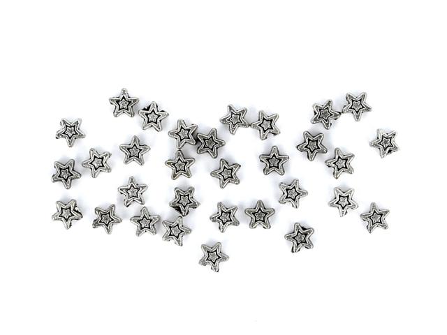 Kovová korálka - hviezdička