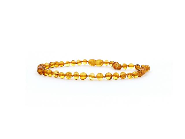 Detský náhrdelník jantár medový