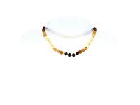 Detský náhrdelník jantár dúhový neleštený