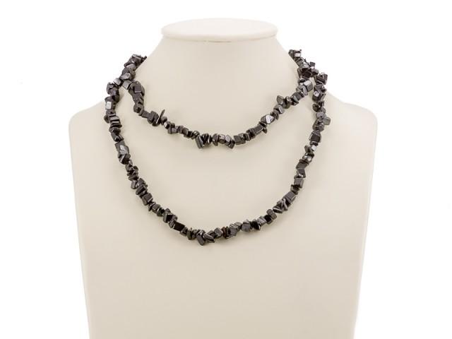 Sekaný náhrdelník hematit