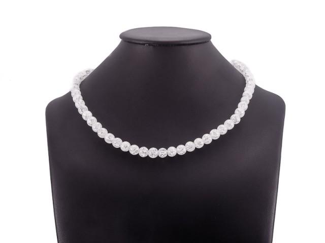 Guličkový náhrdelník praskaný krištáľ