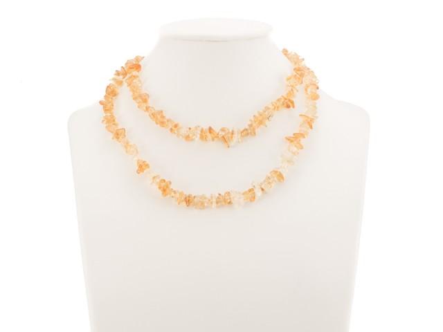 Sekaný náhrdelník citrín