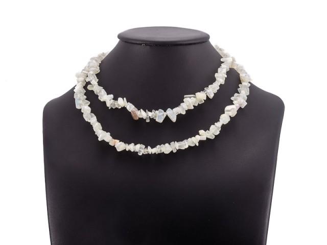 Sekaný náhrdelník mesačný kameň