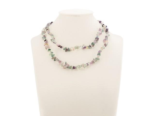 Sekaný náhrdelník fluorit