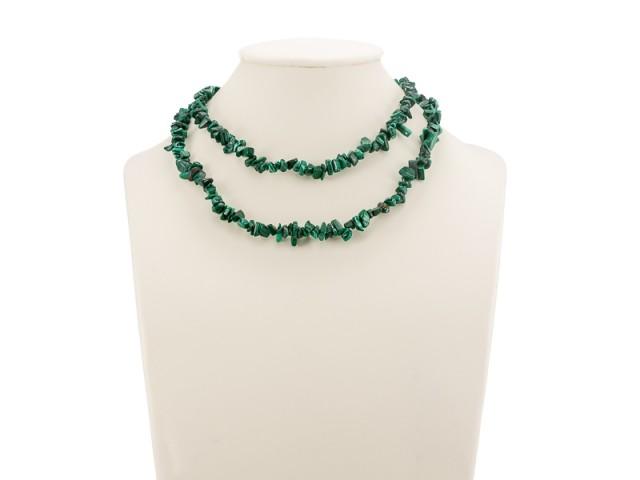 Sekaný náhrdelník malachit