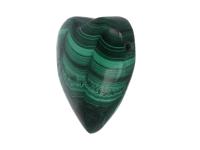 Náhrdelník s príveskom srdiečko - malachit extra kvalita