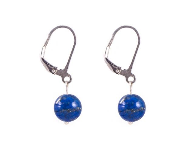 Guličkové náušnice lapis lazuli 8 mm