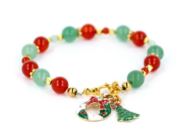 Vianočný náramok karneol a avanturín
