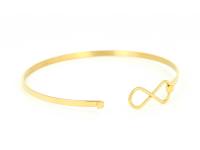 Oceľový náramok Infinity - zlatý