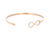 Oceľový náramok Infinity - ružovo-zlatý