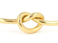 Oceľový náramok Twist - zlatý