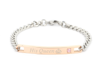 Oceľové náramky pre páry Queen & King