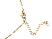 Oceľový náhrdelník - blíženci - zlatý