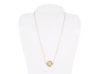Oceľový náhrdelník - škorpión - zlatý