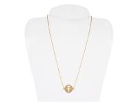 Oceľový náhrdelník - strelec - zlatý