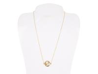 Oceľový náhrdelník - kozorožec - zlatý