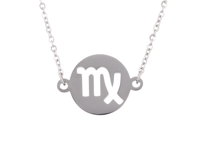 Oceľový náhrdelník - panna
