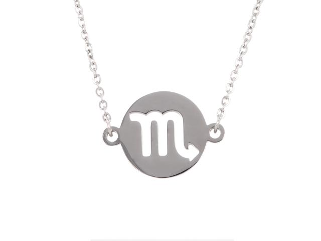 Oceľový náhrdelník - škorpión