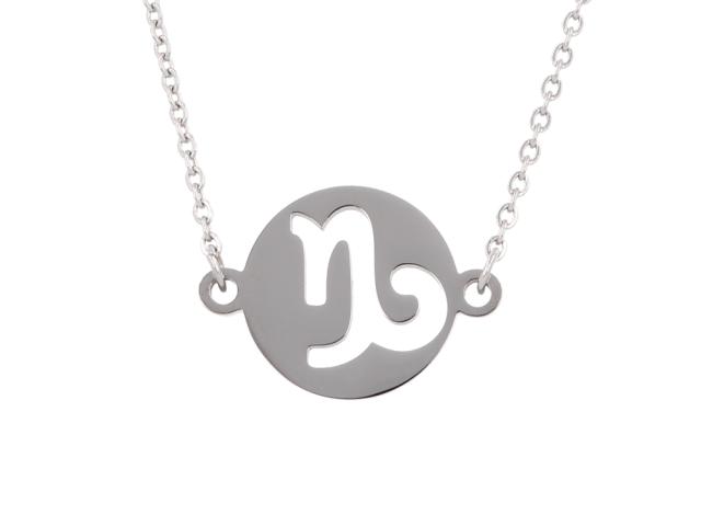 Oceľový náhrdelník - kozorožec