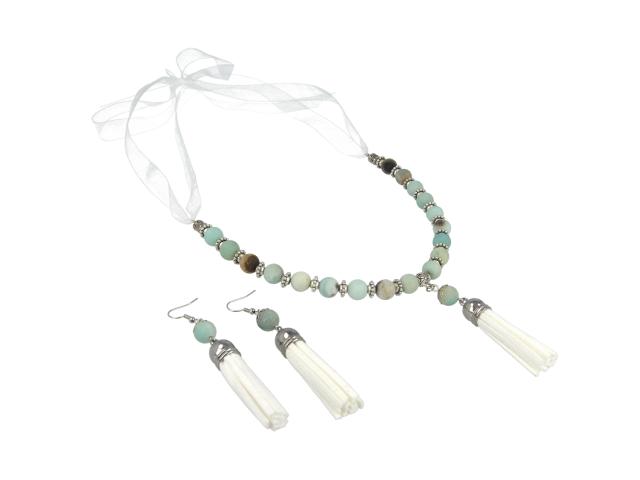 Súprava náhrdelník a náušnice amazonit