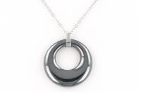 Oceľová súprava náhrdelník a náušnice hematit