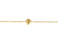 Oceľová súprava náhrdelník, náramok a náušnice - srdiečka - zlatá