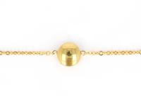 Oceľová súprava náhrdelník, náramok a náušnice - gombíky - zlatá