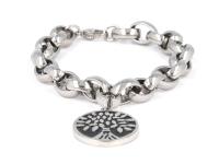 Oceľová súprava náhrdelník, náramok a náušnice - strom