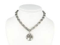 Oceľová súprava náhrdelník, náramok a náušnice - strom II