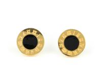Oceľová súprava náhrdelník, náramok a náušnice Dial - zlatá