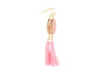 Náušnice ružový avanturín s ružovým strapcom