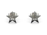 Oceľové náušnice Star
