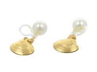 Oceľové náušnice mušľa Kauri a shell perla