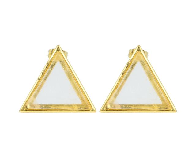 Náušnice krištáľ - tvar trojuholník
