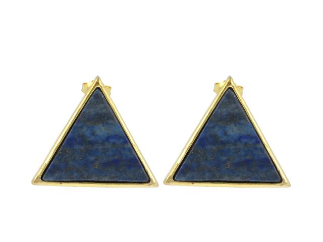 Náušnice lapis lazuli - tvar trojuholník