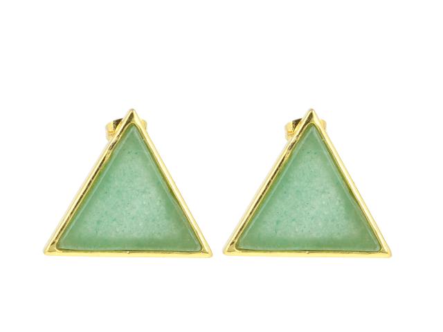 Náušnice avanturín - tvar trojuholník